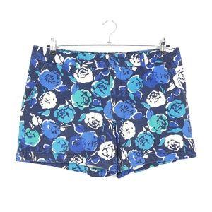 Tommy Hilfiger Blue Floral Cotton Shorts  (I10)